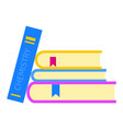 chemistry book icon flat style vector image vector image