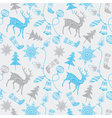 Christmas card with deers and decorations vector image