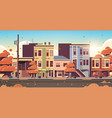 city building houses exterior modern town street vector image vector image