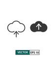 cloud upload icon set isolated on white eps 10 vector image