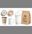 coffee packaging template design white vector image vector image