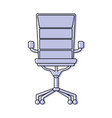 color chair office style object design vector image