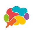 colorful brain parts graphic vector image