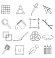 computer graphics black outline icon set eps10 vector image vector image