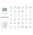 construction industrial isometric line icons 3d vector image vector image