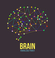 Creative concept of the human brain vector image vector image