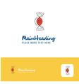 creative dna logo design flat color logo place vector image
