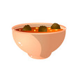 deep bowl vegan soup from fresh vegetables and vector image vector image
