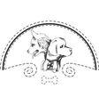 Dog shop logo vector image vector image