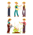 female farmers cartoon set isolated on vector image vector image