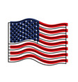 flag united states of america wave colorful vector image vector image