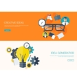 Flat backgrounds set New vector image vector image