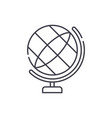 globe line icon concept globe linear vector image