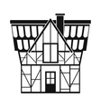 Half timbered house in Germany icon simple style vector image