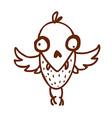 hand drawn bird creature vector image vector image
