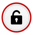 icon lock open vector image