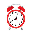 ilustration red alarm clock over white vector image vector image