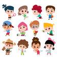 kids character vector image vector image