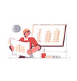 man architect holding drawing new project vector image vector image