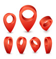 map pointer 3d pin red pin marker for travel vector image vector image
