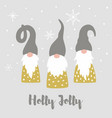merry christmas card with cute scandinavian vector image