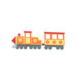 mini train locomotive from funfair carnival vector image vector image