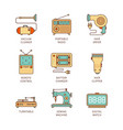 minimal lineart flat household iconset vacuum vector image vector image