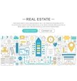 modern line flat design Real estate vector image