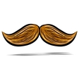 Mustache isolated on white vector image