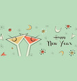 new year banner vintage mid century party drink vector image
