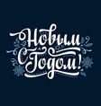 new year holiday background phrase in russian vector image vector image