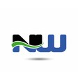 NW company linked letter logo icon vector image