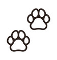 paw prints sign vector image vector image