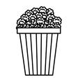 pop corn isolated icon design vector image vector image