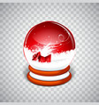 realistic snow globe ball vector image