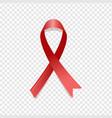 red awareness ribbon vector image