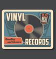 retro music vintage vinyl record player vector image vector image