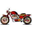 retro redmotorcycle vector image