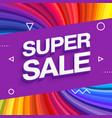 sale banner template design end season special vector image vector image