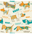 Seamless background with dogs vector | Price: 1 Credit (USD $1)