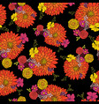 seamless flower pattern aster daisy petunia vector image vector image