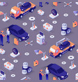 seamless pattern with car repair service concept vector image vector image