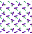 Seamless spring pattern Crocus vector image vector image