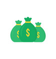 set green money bag icon like loan vector image
