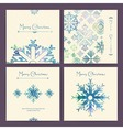 set holiday christmas cards vector image