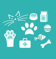 set icon pet for vet or pet shop vector image vector image