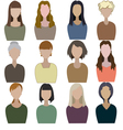 Set of abstract women vector image
