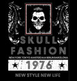 skull tee poster vector image vector image
