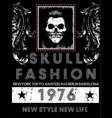 skull tee poster vector image