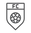 soccer club line icon game and badge football vector image